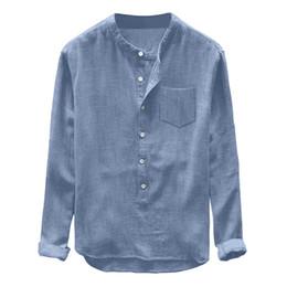 $enCountryForm.capitalKeyWord Australia - Womail Hot 2019 New Arrival Fashion Mens Autumn Winter Button Casual Linen Long Sleeve Top Blouse Man Shirts High Quality