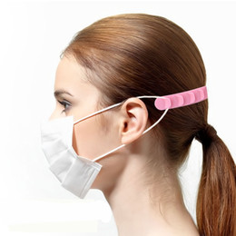 orejeras de silicona ajustables con retráctil hebilla gancho de silicona banda elástica oído protector máscara banda de ampliación de cinco niveles en venta
