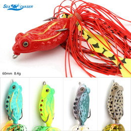 floating frog lures Australia - 5PC 5colors Fishing Lure 8g 50mm soft bait frog Topwater Floating Frogs Baits artificial Rubber bait Fishing Tackle Shallowater