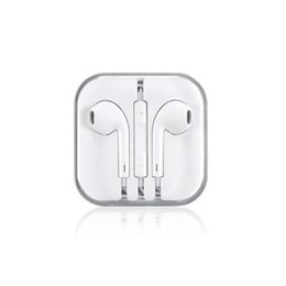 Iphone Original Headsets UK - Cross-border original heavy bass wired headset in-ear remote control mobile phone headset for iphone Android headset