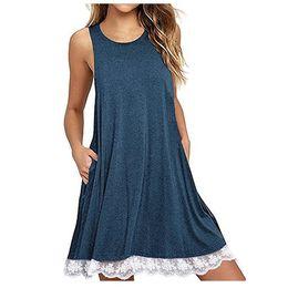 $enCountryForm.capitalKeyWord UK - Lace Blouse Women Sexy Sleeveless O-neck Women Shirt Casual Off Shoulder Long Top Tee Ladies Loose Blouses Tunic Blusas Mujer