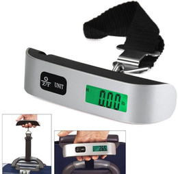SuitcaSe digital ScaleS online shopping - Luggage Scale Electronic Digital Scale Portable Suitcase Travel Bag Hanging Scales Weight Thermometer LCD Display