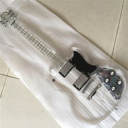 Led Lighting eLectric guitar online shopping - In Stock Acrylic crystal Electric guitar Fingerboard Acrylic Body with LED light Acrylic Guitarra Gold Hardware
