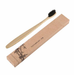 bamboo charcoal toothbrushes UK - Comfortable Natural Environmental Long Lasting Toothbrush Bamboo Handle Toothbrush Charcoal Bristles Health Oral Care