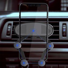 Discount gravity model - New Car Phone Holder Air Outlet Snap Type Gravity Sensor Mobile Phone Holder Navigation Car Bracket Universal Model 4