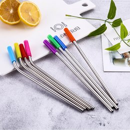 $enCountryForm.capitalKeyWord NZ - 8Pcs Reusable Drinking Straws 304 Stainless Steel Straw With Cleaner Brush Home Party Barware Bar Accessories Kitchen Gadgets
