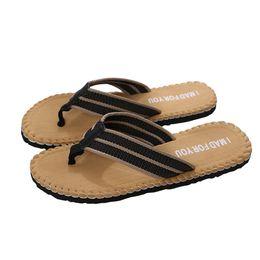Wholesale Canvas High Shoes Australia - Summer Beach Slippers Men Flip Flops High Quality Beach Sandals Non-slide Male Slippers Zapatos Hombre Casual Shoe Nov23