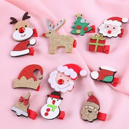 $enCountryForm.capitalKeyWord Australia - 2019 New Christmas Hair Clips Children Christmas Deer Hair Clips Headwear Cute Hairpins Santa Kids Accessories Holiday Gift