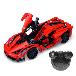 $enCountryForm.capitalKeyWord UK - CADA City Police RC Car Sports Cars Model Building Blocks Compatible Legoing Swat Super Cars Bricks Toys For Kids