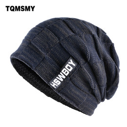 branded beanies Australia - Tqmsmy Brand Bone Men's Winter Hat Knitted Wool Beanies Men Hip-hop Capturban Caps Skullies Balaclava Hats For Women Gorros C19022301
