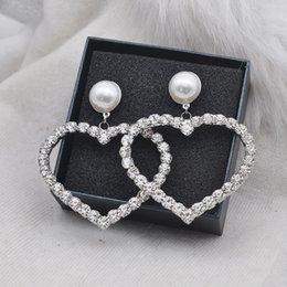 $enCountryForm.capitalKeyWord Australia - new Women pearl Heart Stud earring S925 Silver needle Love earring