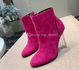 purple floral paintings Australia - Top quality! sexy woman shoes in autumn and winter Knitted elastic boots luxury Designer Short boots socks boots Large size 35-41 High 20