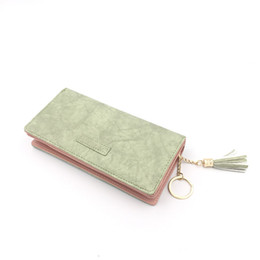 $enCountryForm.capitalKeyWord UK - PU Leather Multicolor Bri-fold Long Women Lady Fasion Wallet with Coin Pocket and Tassel