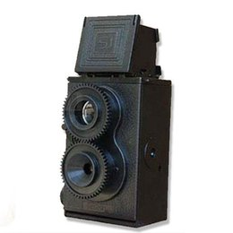 Wholesale Fashion Black DIY Twin Lens Reflex TLR mm Lomo Film Camera Kit Classic Play Hobby Photo Toy Gift