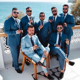 Discount mens plus size blazers - 2019 Custom Made Best Mens Bridegroom Mens Wedding Tuxedos Formal Wears Notch Lapel Two Buttons Mens Blazer Suits(Top Bl