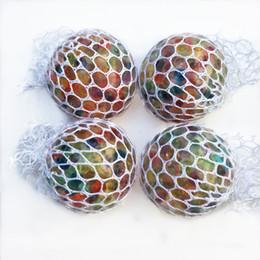 $enCountryForm.capitalKeyWord Australia - Novelty Anti Stress Mesh Grape Ball 6CM Latex Colorful Anti Stress Relief Ball Stress Autism Mood Relief Hand Wrist Squeeze Toy For Big Kid