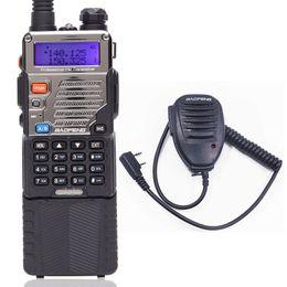 Ham radio mic online shopping - BAOFENG UV RE Walkie Talkie W high Power CB Ham Radio mah Battery km long range VHF UHF Dual Band Radio Speaker Mic