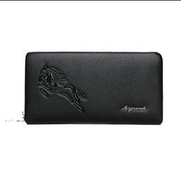 $enCountryForm.capitalKeyWord UK - Designer-Famous Metal security code lock wallet Genuine Leather Mens Clutch bag Men Wallet Business Man Clutch Purse Men Handbag