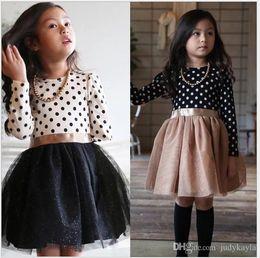 $enCountryForm.capitalKeyWord Australia - 2019 Spring Autumn Girls Long Sleeve Dresses Children Polka Dots Princess Dress Kids Casual Dress Girl Mini Tutu Skirt 100-140cm 5pcs lot