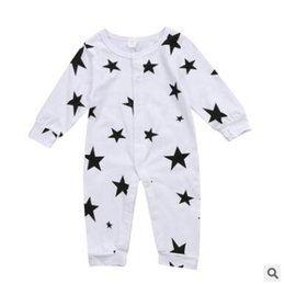 Onesie stars online shopping - Newborn Onesie New Baby Boy Girl Cotton Long Sleeve Romper Jumpsuit Bodysuit Star Clothes Outfits Baby Clothes M
