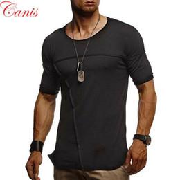 Wholesale plain slim fit t shirt for sale – custom Men Slim Fit Short Sleeve Casual T Shirt O Neck Plain Shirt Tops Muscle Tee Summer NEW