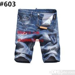 $enCountryForm.capitalKeyWord Australia - Men s Distressed Ripped Skinny Jeans Fashion Designer Shorts Jeans Slim Motorcycle Moto Biker Causal Mens Denim Pants Hip Hop Men Jeans #803