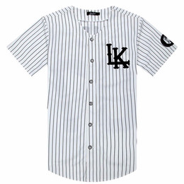 tyga t shirts Australia - 2018-2019 Hot Selled Men T-shirts Fashion Streetwear Hip Hop Baseball Jersey Striped Shirt Men Clothing Tyga Last Kings Clothes Y19050902