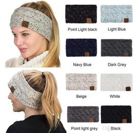 CroChet hats spring summer online shopping - Hairband Colorful Knitted Crochet Twist Headband Winter Ear Warmer Elastic Hair Band Wide Hair Accessories