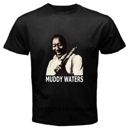 Muddy Waters Country Blues Music Legend para hombre camiseta negra