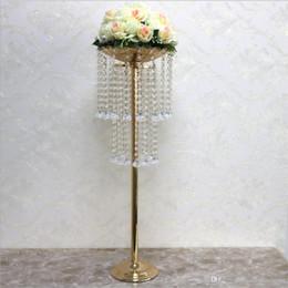 "$enCountryForm.capitalKeyWord Australia - Acrylic Road Lead Exquisite Crystal Wedding Centerpiece Table Flower Vase Stand Bead Rack 32"" Tall 10"" Diameter Party Home Table Decoration"
