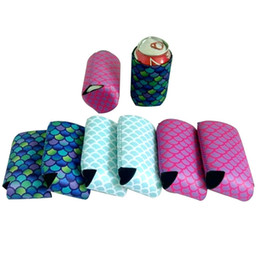 Party favor holders online shopping - Fashion Mermaid Can Sleeves Creative Cooler Cup Holder Beverage Beer Drinks Bottle Cup Cover Party Favor Decor TTA1252