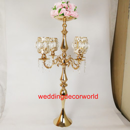 $enCountryForm.capitalKeyWord Australia - New style Silver  gold Metal Flower Vase Candle Holder Wedding Centerpieces Event Road Lead Party Home Decoration best0755