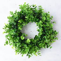 vine leafs NZ - Artificial Ivy Green Leaf Garland Plants Vine Fake Foliage Wreath Plastic Artificial Flower Rattan String Wedding Decor