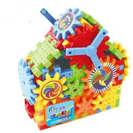 gears blocks NZ - New products are selling electric children's gear building blocks DIY assembly and development of intellectual children building blocks