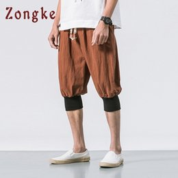 shorts men styles Australia - Zongke Chinese Style Summer Linen Cotton Shorts Men Streetwear Mens Shorts Man 5xl Men Shorts Cotton Clothing 2019 Spring New Y19072601
