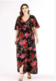 Wholesale Flower Women Plus Size Dress Summer Beach Big Size XL XL Boho Beach Floral Dresses
