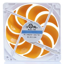 $enCountryForm.capitalKeyWord Australia - 120x120x25mm 12cm silent computer radiator DC 12V 3Pin   large 4pin cooling fan for PC CPU computer radiator with yellos leaves