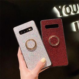 Ring Slides Australia - Bling Diamond Phone Case For Iphone XS Max XR X 8 7 6 Plus Protective Cellphone Shell With Anti-slide Finger Ring