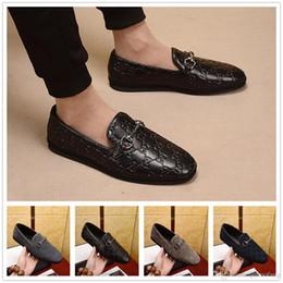 f2b96ca2b5 Newst 4 Color de la personalidad de lujo de alta calidad zapatos de  plataforma para hombre zapatos de vestir italianos Metal Point Oxford  marrón azul negro ...