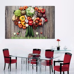 $enCountryForm.capitalKeyWord Australia - 1 Piece Vegetables Big Party Home Decor Print Living Room Modern Wall Art Canvas Painting No Frame Picture