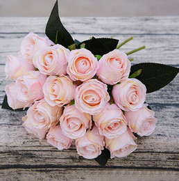 $enCountryForm.capitalKeyWord NZ - Artificial Rose Flowers Wedding bouquet White Pink Thai Royal Rose Silk flowers Home Decoration Wedding Party Decoration GB238