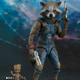 rocket toys for children Australia - Marvel Avengers 4 SHFiguarts SHF Guardians of the Galaxy Rocket Raccoon & Baby Tree Action Figures Toys for children 15cm