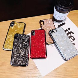 Red Pink Glasses Australia - luxury Electroplated Glass fashion pink red shell phone Case for iPhone 6 6s 7 8 8plus XR X back cover shell for iphone x xr 7plus case