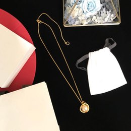 $enCountryForm.capitalKeyWord Australia - Vintage Copper Gold Round Circle Cross Buckle White Pearl Charm Pendant Long Chain Necklace For Women Jewelry