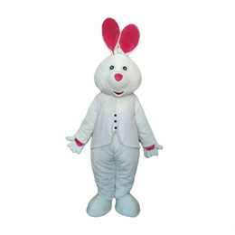 rabbit head costume UK - 2019 hot sale Adult White Rabbit Mascot Costume Carnival Festival Commercial Advertising Party Dress With Fan In Head