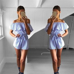 $enCountryForm.capitalKeyWord Australia - Women Casual Playsuit Ladies Jumpsuit Romper Summer Beach Striped Playsuit Women's summer striped casual fashion jumpsuit 3#