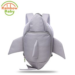 Baby Bags For School Australia - Rainbow Baby 3D Model Shark Kids & Babys Bags Anti Lost School Bags for 2-8 Years Boys and Girls Waterproof Backpack