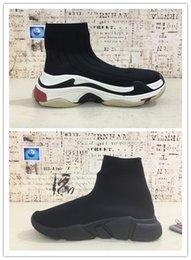 Speed S online shopping - New HOT Triple S Paris Speed Runner Grey Sock ShoeS Original Luxury Trainer Runner Sneakers Race Mens Women Sports Shoes
