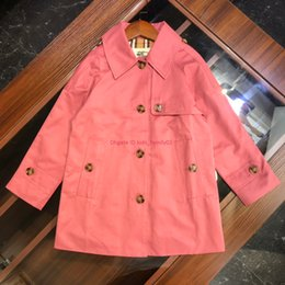 bohemian style clothing for children Australia - Children coat sets kids designer clothing autumn twill windbreaker single-breasted slits button-fitting pockets for boys and girls coat