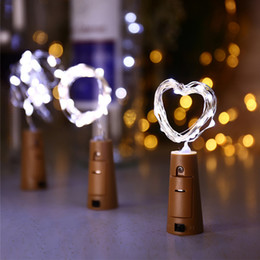 $enCountryForm.capitalKeyWord NZ - 2M 20LED Light Cork Bottle Stopper Light Glass Wine LED Copper Wire String Lights For Party Wedding Halloween